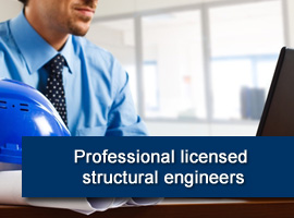 Professional licensed structural engineers